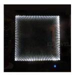 <b>【即納可!】</b>調光可能!キラキラLIGHT♪ LED付きウォールミラー♪ クローム(W60×D5×H60cm)