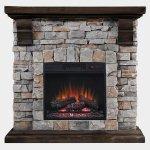 <b>【LLOYD GRANDE】</b>電気式暖炉「パイオニア」(18inch) キャストストーン(W1016×D330×H991mm)