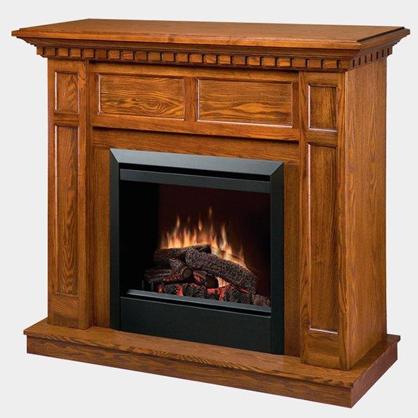 【Dimplex】 <プロローグ>高級電気式暖炉セット「キャップライス」(23inch)オーク(W1226×D432×H1067mm)