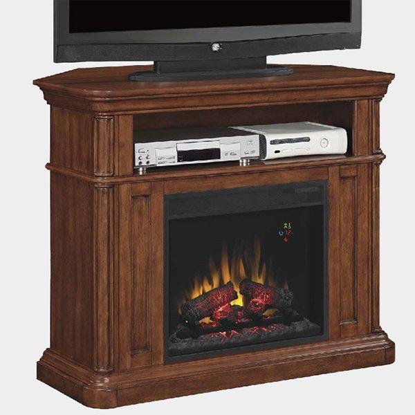 【LLOYD GRANDE】 高級木製マントルピース暖炉本体セット「オークフィールド」(23inc)プレミアムピーカンバーチ(W1092×D393×H914mm)コーナー兼用