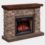 <b>【LLOYD GRANDE】</b>暖炉棚電気式暖炉セット「グランドキャニオン」 (28inc)スタックストーン(W1422×D457×H1092mm)