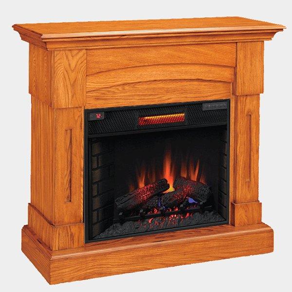 【LLOYD GRANDE】 電気式暖炉セット「バークレイ」(28inch) プレミアムオーク(W1195×D403×H1048mm)