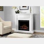 【Dimplex】<シンフォニー>電気式暖炉「グヴェンドリン」(26inch)ホワイト(W1210×D440×H1590mm)