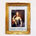 <B>【即納可!】【限定品】</B>アンティーク調 アートフレーム(額絵)「マリーアントワネット」(W38×D48cm)