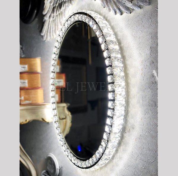 【即納可!】調光可能!キラキラLIGHT♪ LED照明付きウォール女優ミラー♪ Mサイズ(W49.5×H64cm)