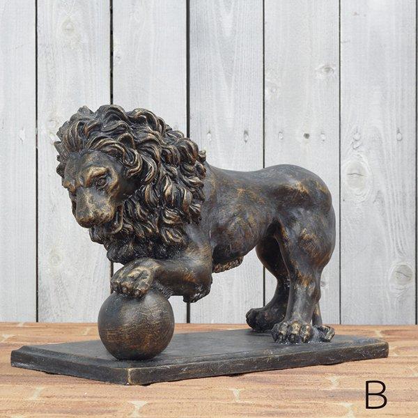 【在庫有】ライオンのオブジェ(左珠)(...
