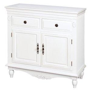 【フレンチな白家具・デュエット】ホワイト・サイドボードB