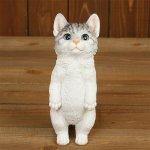 <b>【即納可!】</b>猫のオブジェ ベニーズキャット(8.5×10×H23.5cm)