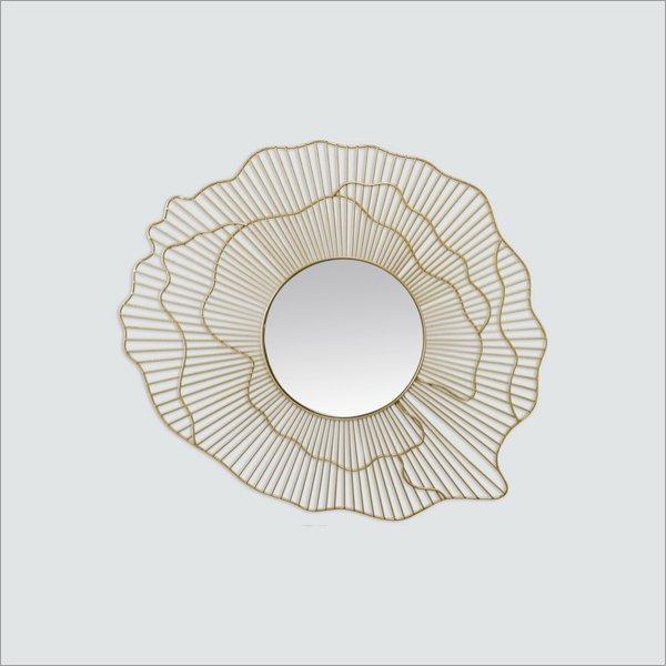 【完売】フランス「EMDE」サンバースト・ミラー「PEONY」 ゴールド(47×55cm)