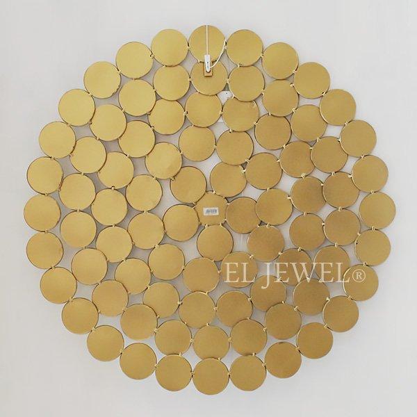 【即納可!】 【フランス-EMDE】マルチラウンドミラー ゴールド(70×70cm)