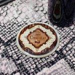 <b>【即納可!】【オランダ-BAROQUE】</b>アンティーク調ラウンド・コースター「CHOCOLAT」1枚(Φ8cm)