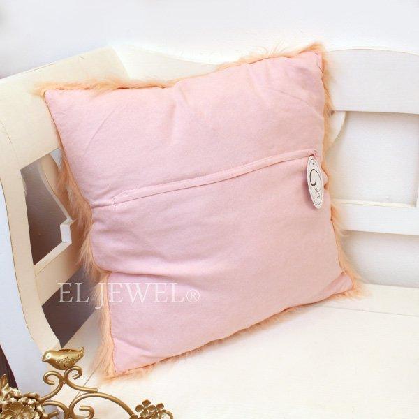 【ベルギー-GARUDA】フワフワ♪ファークッション ピンク(W45×H45cm)