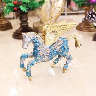 <b>【即納可!】</b>クリスマスアイテム♪ペガサスオーナメント:ブルー(H10cm)