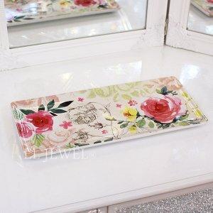<b>【即納可!】【フランス-Orval】</b>トレー「ROSE COTTAGE」31×14.5cm