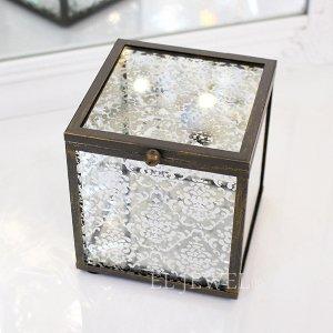 <b>【即納可!】【フランス-Mathilde M.】</b>ガラス製ジュエリーボックス(9×10×9cm)