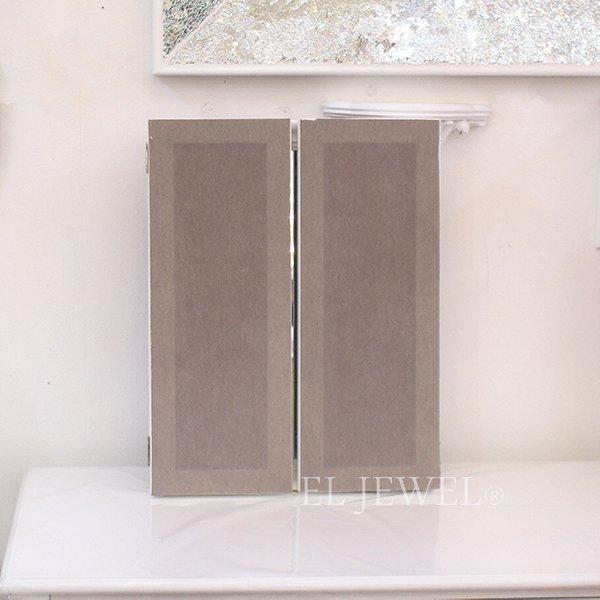 【即納可!】【フランス-Mathilde M.】 三面鏡・アンティークホワイト(W120×H180cm)