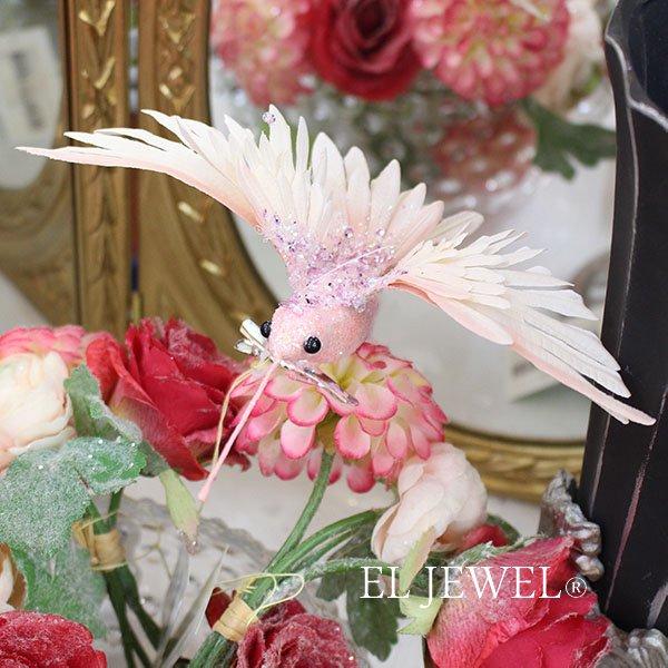 【即納可!】【ベルギー-GOODWILL-】 キラキラ☆ハミングバードクリップ(ピンク)