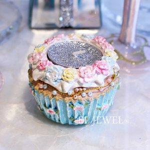 【即納可!】【ベルギー-GOODWILL-】カップケーキ型キャンドルホルダー・ブルー