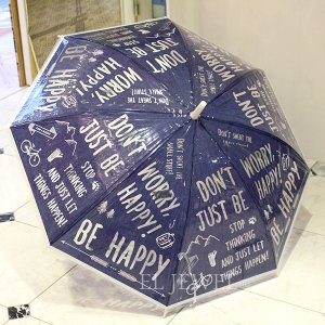 <b>【入荷未定】</b>ハッピークリアアンブレラ BE HAPPY(φ1000×h800cm)<img class='new_mark_img2' src='//img.shop-pro.jp/img/new/icons47.gif' style='border:none;display:inline;margin:0px;padding:0px;width:auto;' />