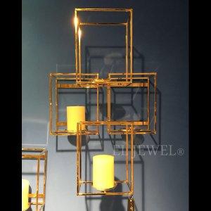 【即納可!】壁掛けキャンドルホルダー・ゴールド・L(W40×H60cm)