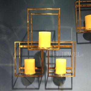 【即納可!】壁掛けキャンドルホルダー・ゴールド・M(W40×H41cm)