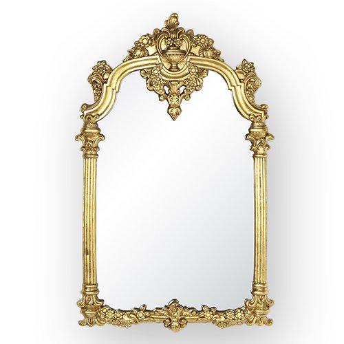 アンティーク調 ウォールミラーゴールド(W66×D4×H105cm)