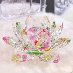 <b>【即納可!】</b>キラキラ★クリスタルオブジェ・蓮華・オーロラ(W20cm)<img class='new_mark_img2' src='//img.shop-pro.jp/img/new/icons1.gif' style='border:none;display:inline;margin:0px;padding:0px;width:auto;' />