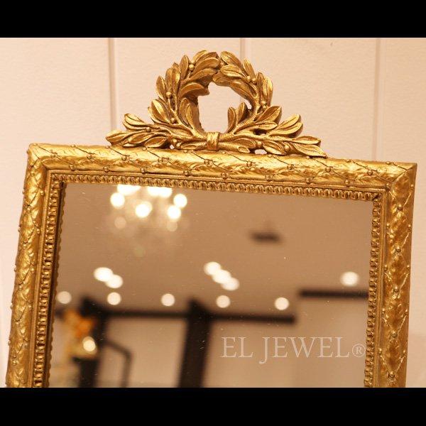 壁掛け&卓上 2WAY ロココ調ミラー(ゴールド)W24×H35