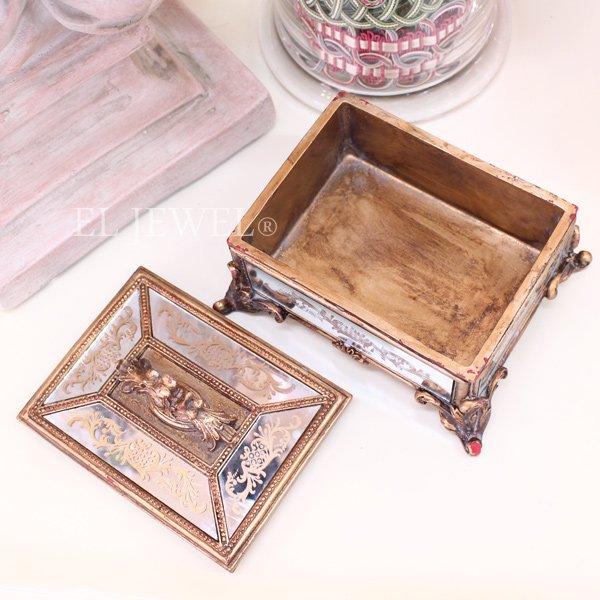 【入荷未定】 ロココ調・ミラーボックス(W17.5cm)
