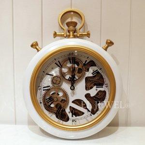 <b>【即納可!】</b>ギアクロック壁掛け時計(ホワイト)