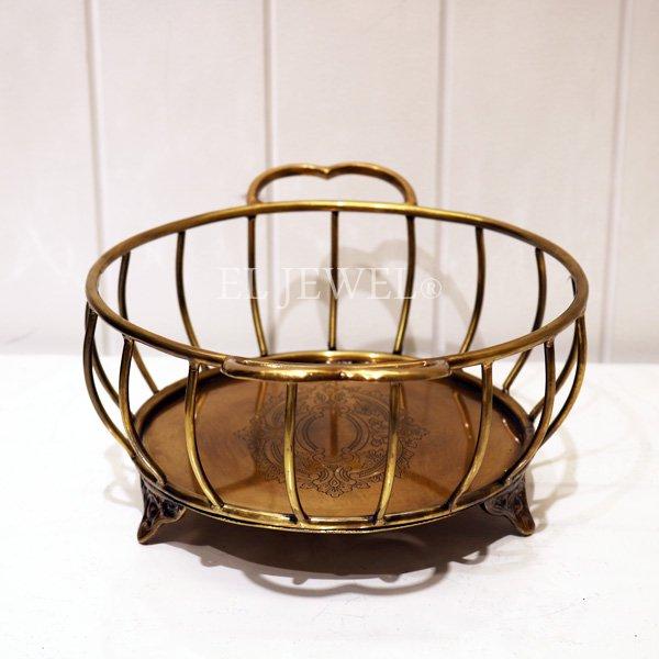 アンティークワイヤーバスケット
