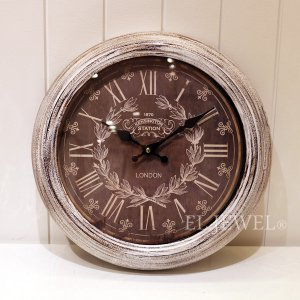 <b>【即納可!】</b>壁掛け時計・シャビーウッド