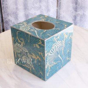 【スペイン-A LA PAR】おしゃれなキューブ型ペーパーBOX(Morris Azul)