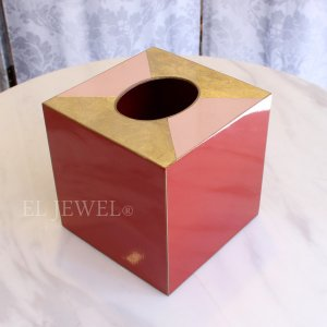 <b>【即納可!】【スペイン-A LA PAR】</b>おしゃれなキューブ型ペーパーBOX(Art decó rojo)