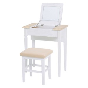 <B>【セール!】【SHABBY WOOD FURNITURE】</B>シャビースタイル♪ドレッサーセット・アンティークホワイト(W60×D35×H70cm)<img class='new_mark_img2' src='//img.shop-pro.jp/img/new/icons24.gif' style='border:none;display:inline;margin:0px;padding:0px;width:auto;' />