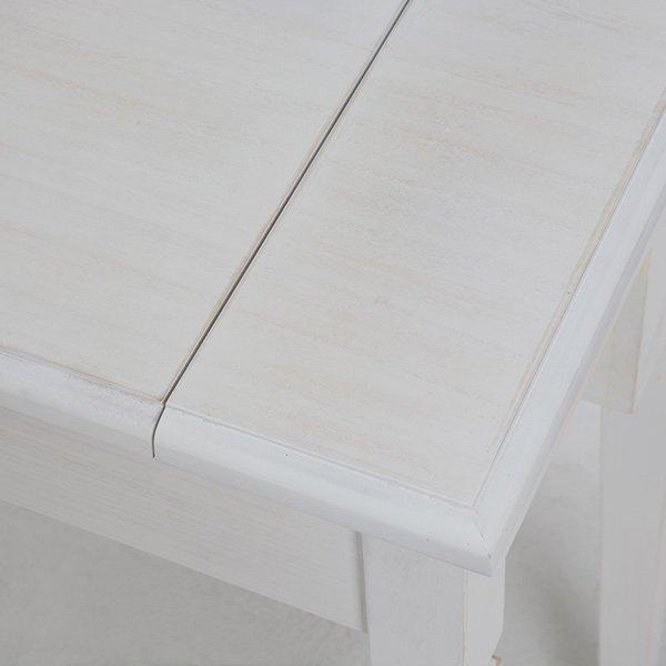 【セール!】【SHABBY WOOD FURNITURE】 シャビースタイル♪ドレッサーセット・アンティークホワイト(W60×D35×H70cm)