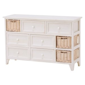 <B>【セール!】【SHABBY WOOD FURNITURE】</B>ナチュラルスタイル♪チェスト・アンティークホワイト(W90×D30×H59cm)<img class='new_mark_img2' src='https://img.shop-pro.jp/img/new/icons24.gif' style='border:none;display:inline;margin:0px;padding:0px;width:auto;' />