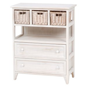 <B>【セール!】【SHABBY WOOD FURNITURE】</B>ナチュラルスタイル♪チェスト・アンティークホワイト(W60×D30×H75cm)<img class='new_mark_img2' src='//img.shop-pro.jp/img/new/icons24.gif' style='border:none;display:inline;margin:0px;padding:0px;width:auto;' />