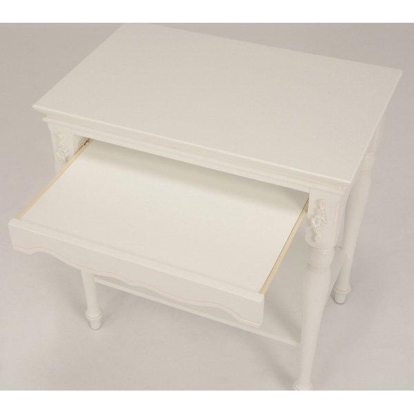【セール!】【HAMPTON】 クラシカルスタイル♪パソコンテーブル・アンティークホワイト(W70×D45×H74cm)
