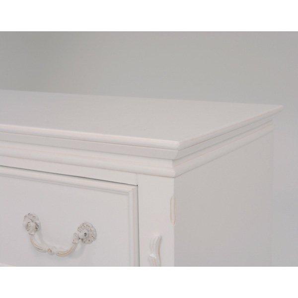 【セール!】【HAMPTON】 クラシカルスタイル♪テレビボード・アンティークホワイト(W120×D40×H56.5cm)