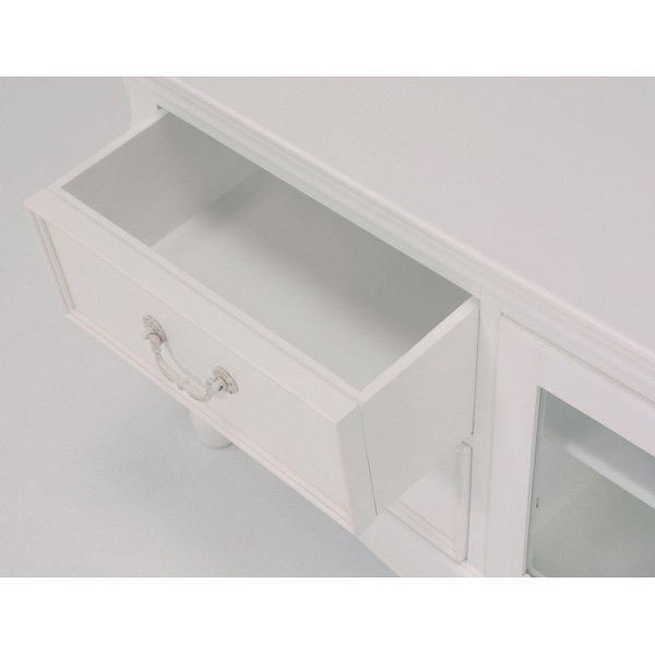 【セール!】【HAMPTON】クラシカルスタイル♪テレビボード・アンティークホワイト(W150×D40.5×H56.5cm)