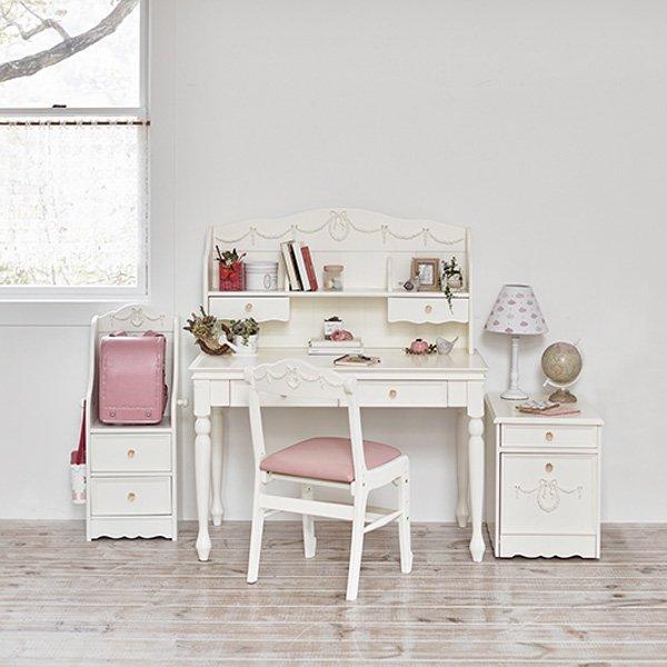 【セール!】【Kids furniture】キュートな姫家具♪ランドセルラック・ホワイト(W43×D32×H90cm)