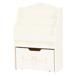 <B>【セール!】【Kids furniture】</B>キュートな姫家具♪絵本ラック・ホワイト(W60×D30×H90cm)<img class='new_mark_img2' src='//img.shop-pro.jp/img/new/icons24.gif' style='border:none;display:inline;margin:0px;padding:0px;width:auto;' />