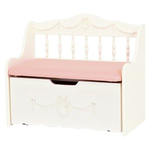 <B>【セール!】【Kids furniture】</B>キュートな姫家具♪ベンチチェスト・ホワイト(W75×D40×H65cm)<img class='new_mark_img2' src='//img.shop-pro.jp/img/new/icons24.gif' style='border:none;display:inline;margin:0px;padding:0px;width:auto;' />