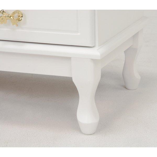 【セール!】【Feminine Wood Furniture】 フェミニンな白家具♪5段チェスト・ホワイト(W63×D35×H83.5cm)
