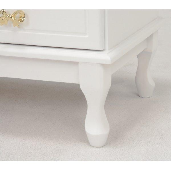 【セール!】【Feminine Wood Furniture】 フェミニンな白家具♪チェスト・ホワイト(W80×D35×H83.5cm)