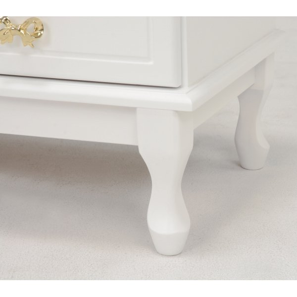 【セール!】【Feminine Wood Furniture】フェミニンな白家具♪テレビボード・ホワイト(W120×D40×H45cm)
