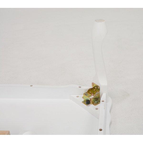 【セール!】【Feminine Wood Furniture】 フェミニンな白家具♪折れ脚テーブル・ホワイト(W100×D60×H33.5cm)