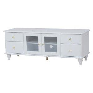 【セール!】【Feminine Wood Furniture】フェミニンな白家具♪テレビボード・ホワイト(W120×D40×H45cm)<img class='new_mark_img2' src='https://img.shop-pro.jp/img/new/icons24.gif' style='border:none;display:inline;margin:0px;padding:0px;width:auto;' />