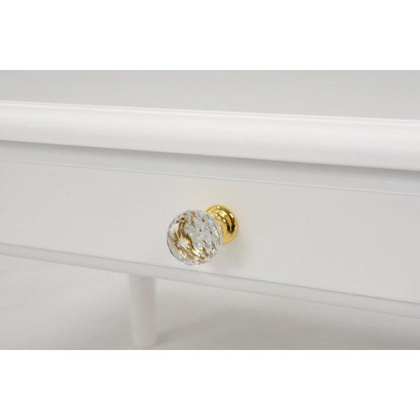 【セール!】【Feminine Wood Furniture】 フェミニンな白家具♪テーブル・ホワイト(W75×D45×H40cm)